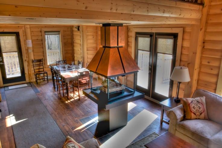 Timber Block Fireplace