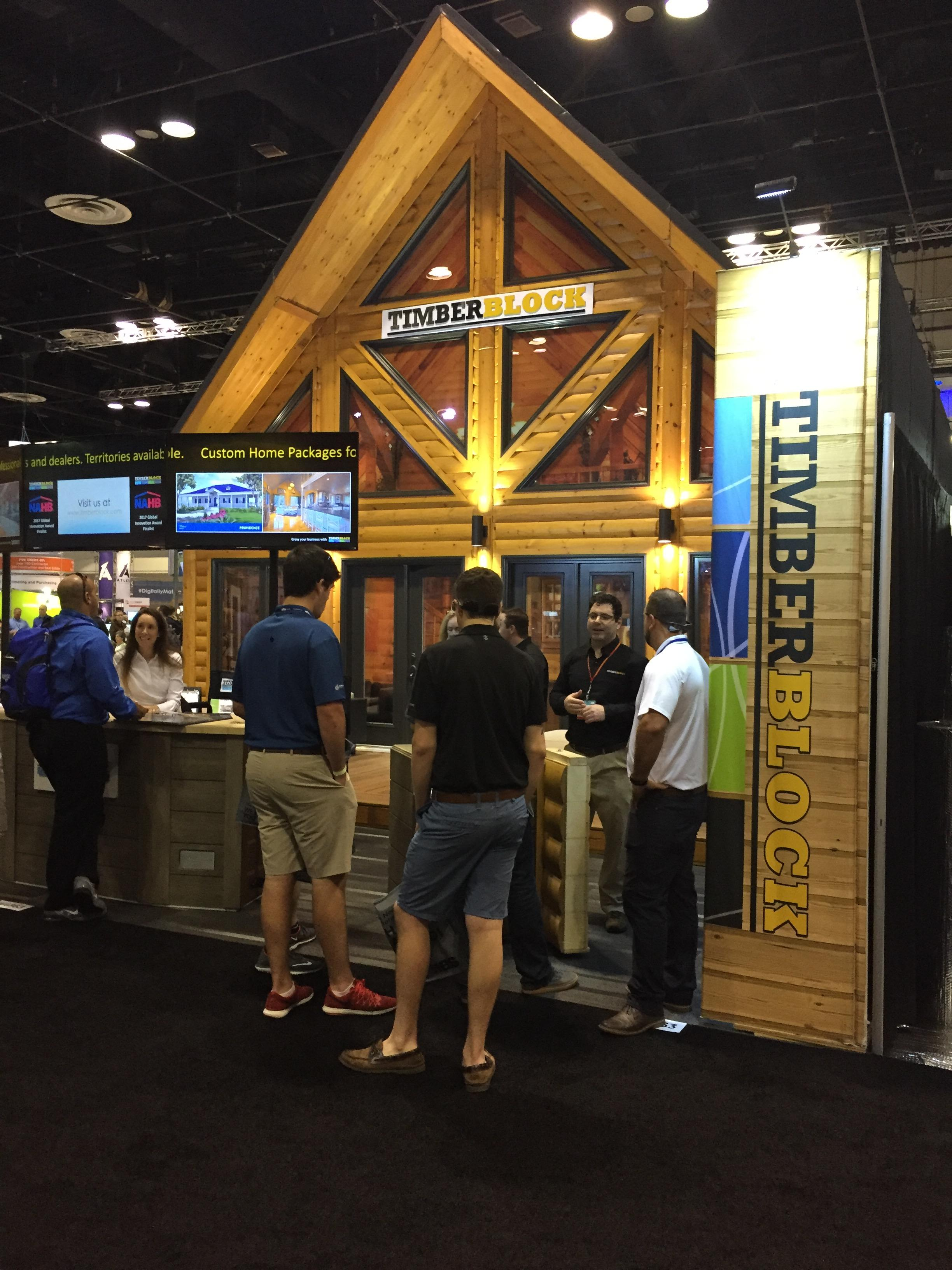 timber block custom homes at IBS 2017