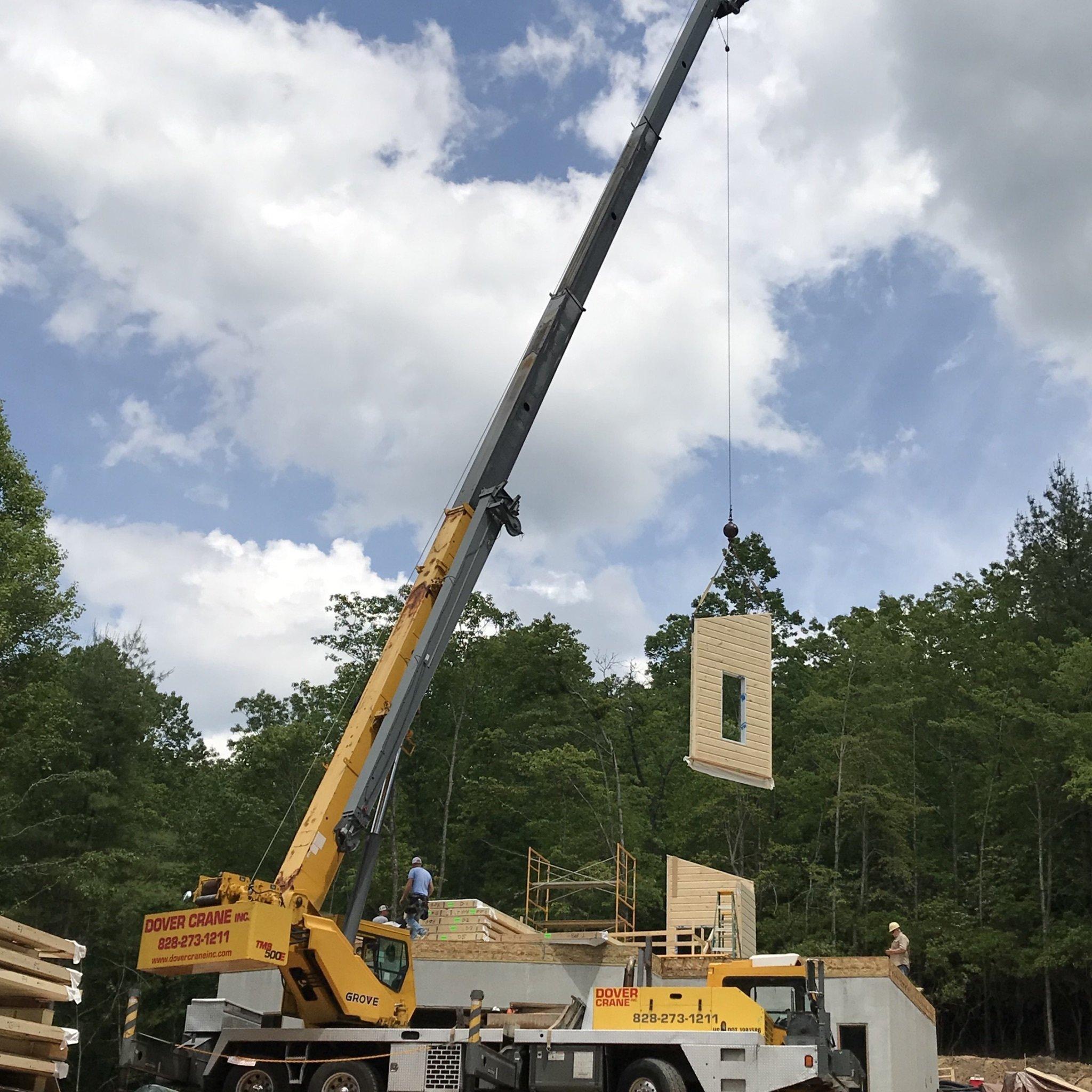 Panel - Timber Block wall raising
