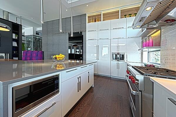 Timber Block Contemporary Kitchen