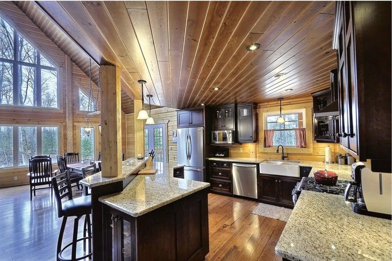 Timber Block Kitchen design Open