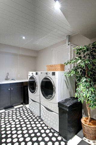 Timber Block laundry room