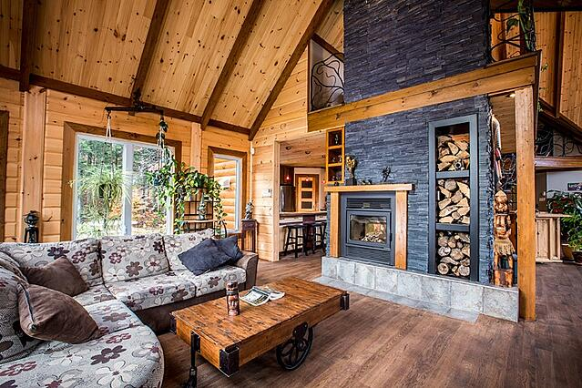 Timber BLock custom home design wood