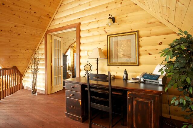 log home timber block custom classic