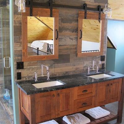 Timber Block bathroom vanity