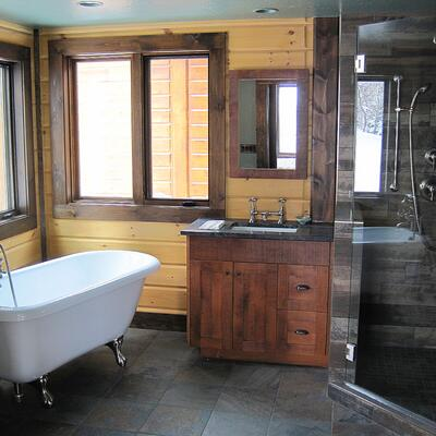 Timber Block bathtub