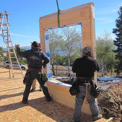 Timber Block wall raising project