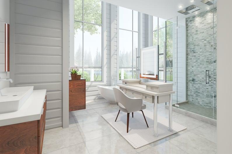 Timber Block Master Bath