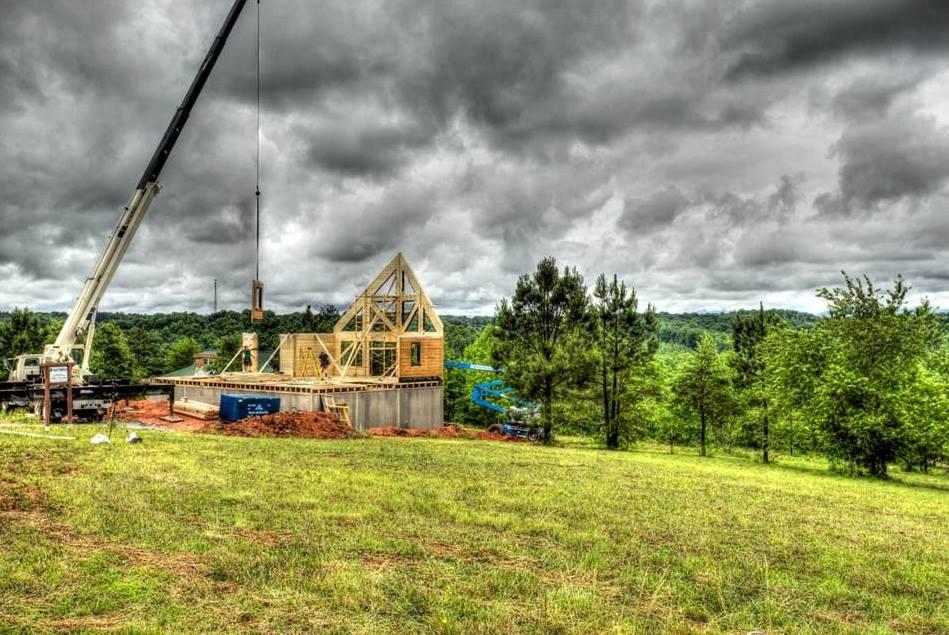 Wall Raising Timber Block Homes