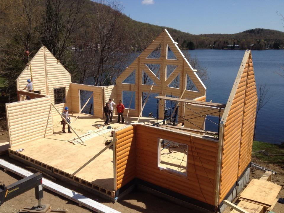 Timber Block Wall Raising
