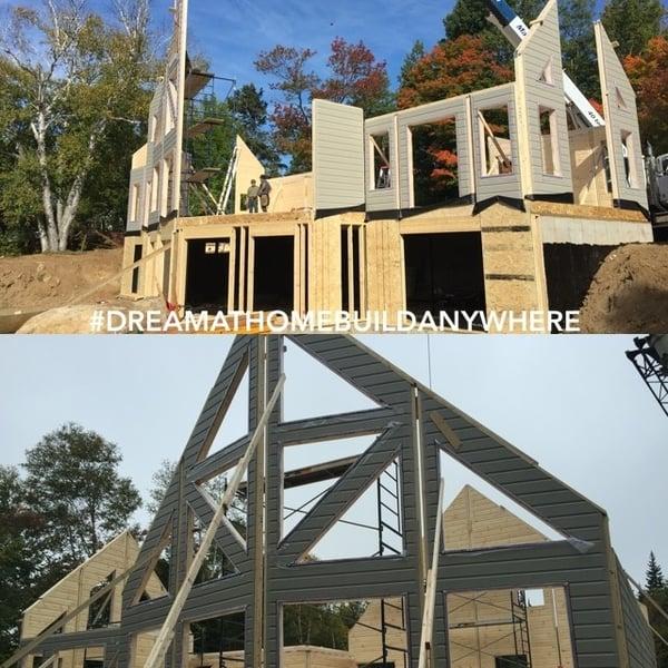 Timber Block Homes Wall Raising